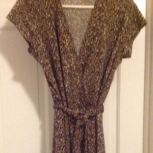 Willi Smith Sexy Animal Print Wrap Dress Sz XL